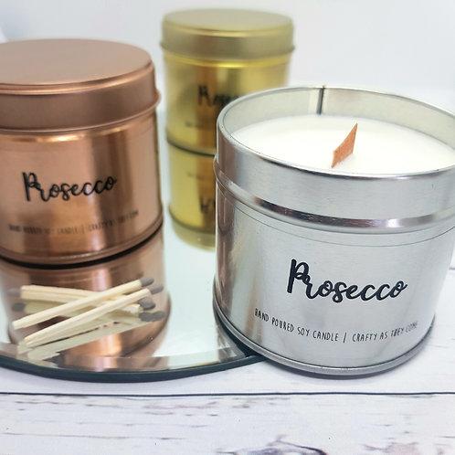 Prosecco Tin Candle
