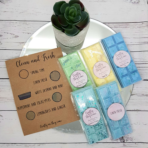 'Clean and Fresh' Wax Melt Gift Box