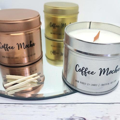 Coffee Mocha Tin Candle