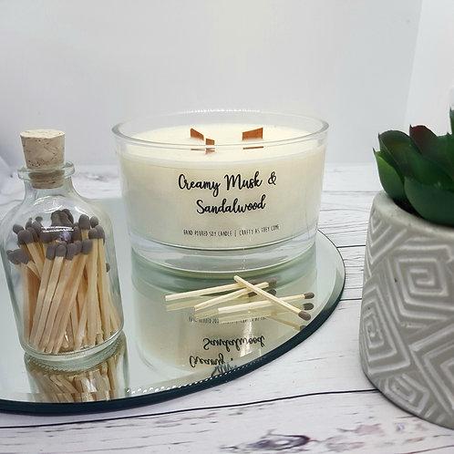 Creamy Musk and Sandalwood Large Candle