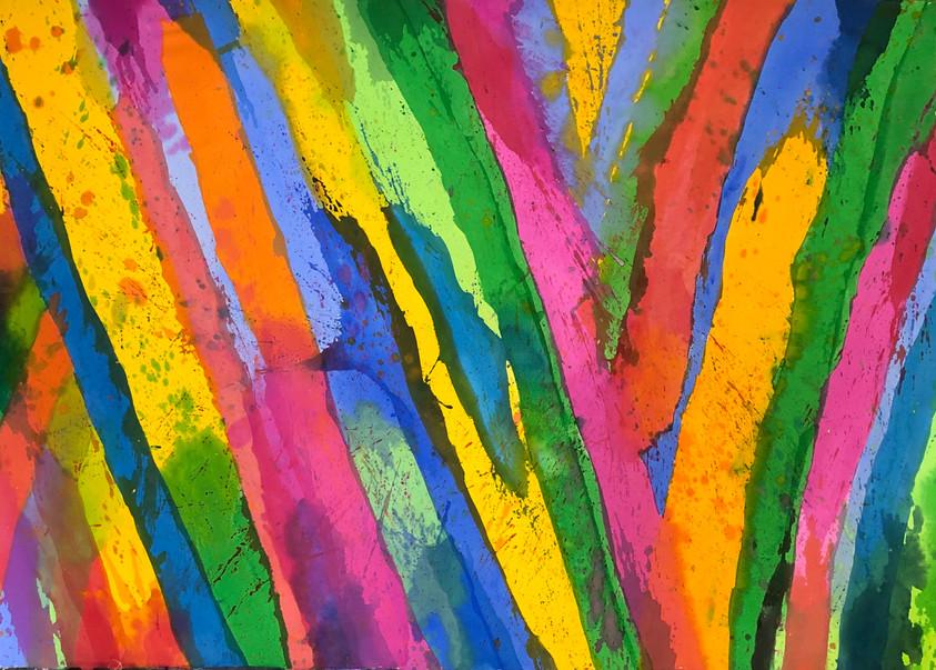 Stripes 518, 52 x 78 (sold)