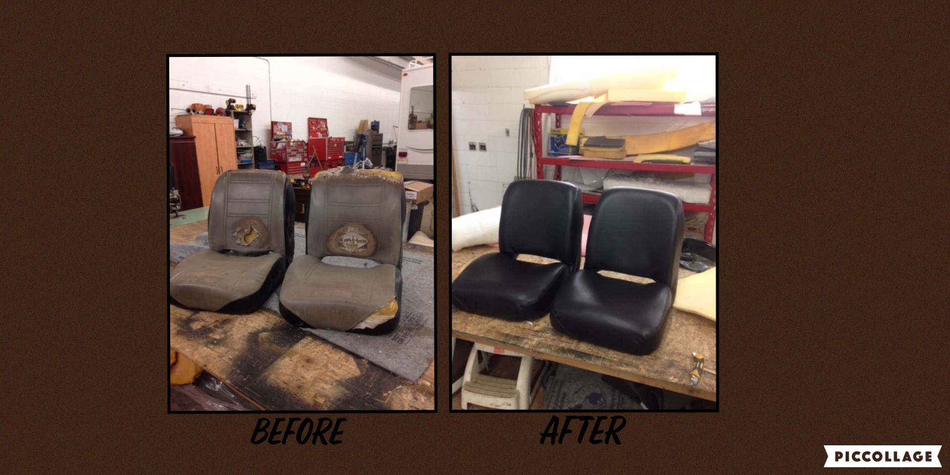 Reupholstered Truck Seats