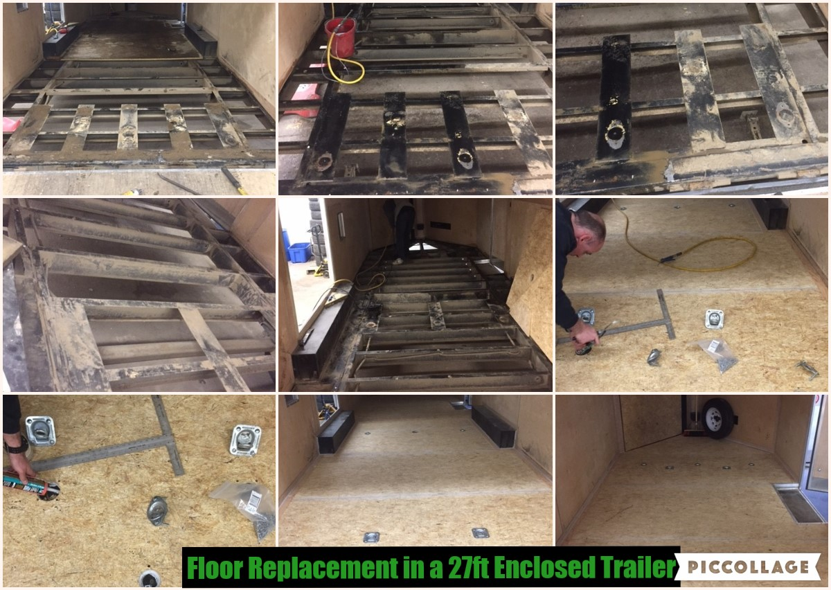 Floor Replacement on Cargo Trailer