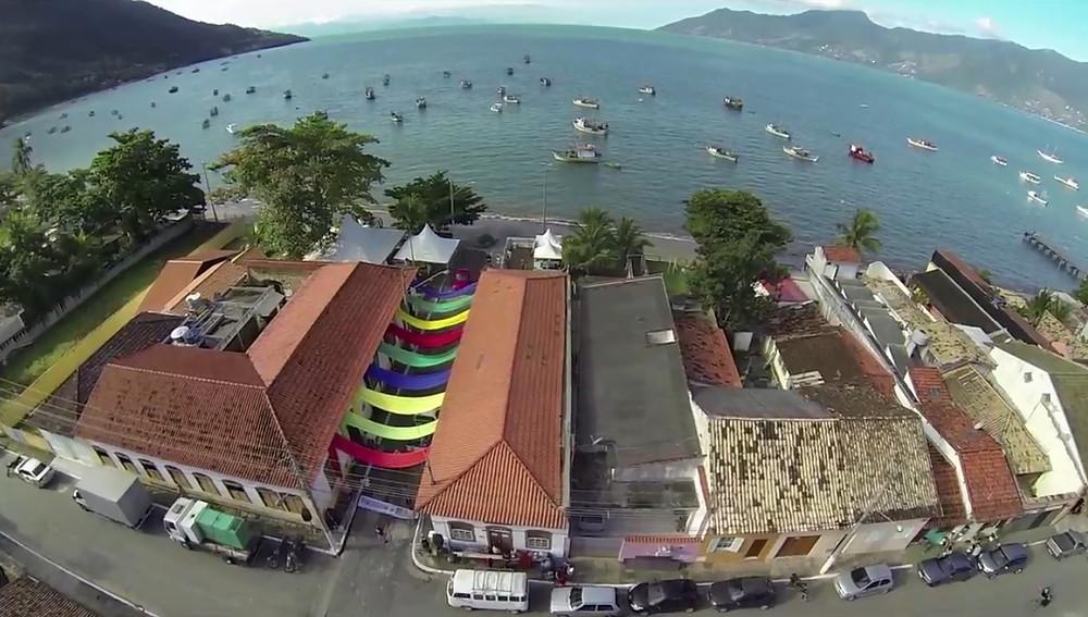 Vista aérea da última edição do Festival Tecendo as Águas