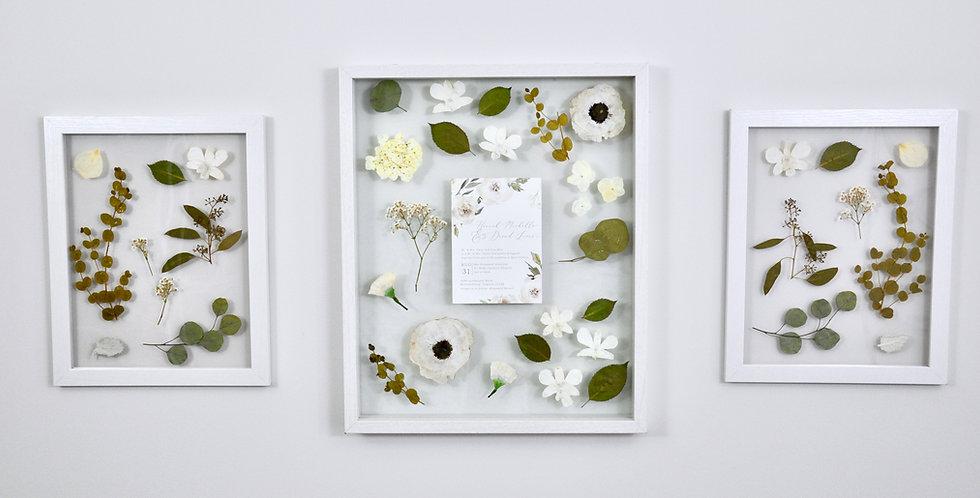 3 Framed Wedding Bouquet