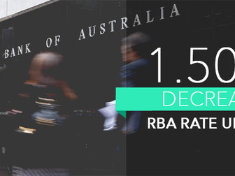 Lowest Cash rate Ever! RBA drops 0.25% again to a record low of 1.5%