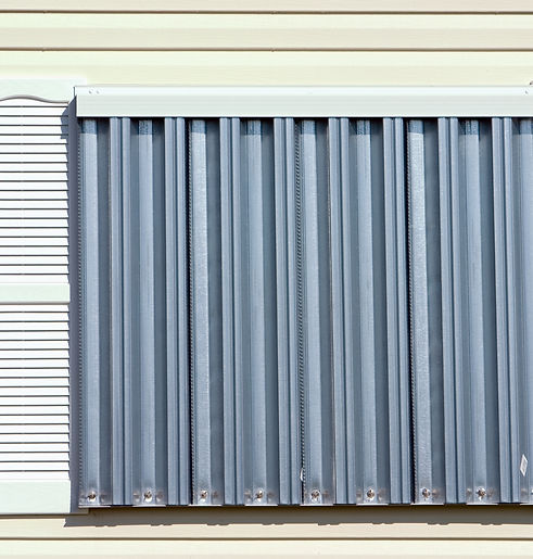 Hurricane protection corrugated metal pa