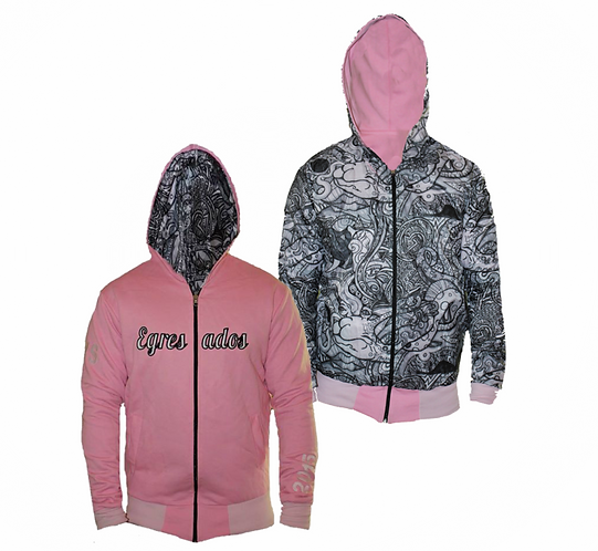 Campera Reversible interior blanco y negro