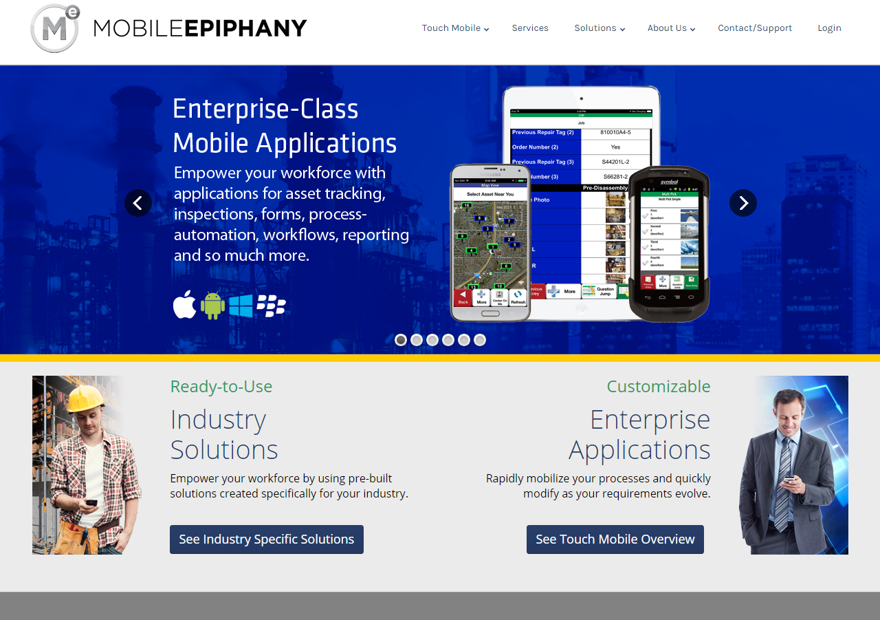 Mobile Epiphany Homepage