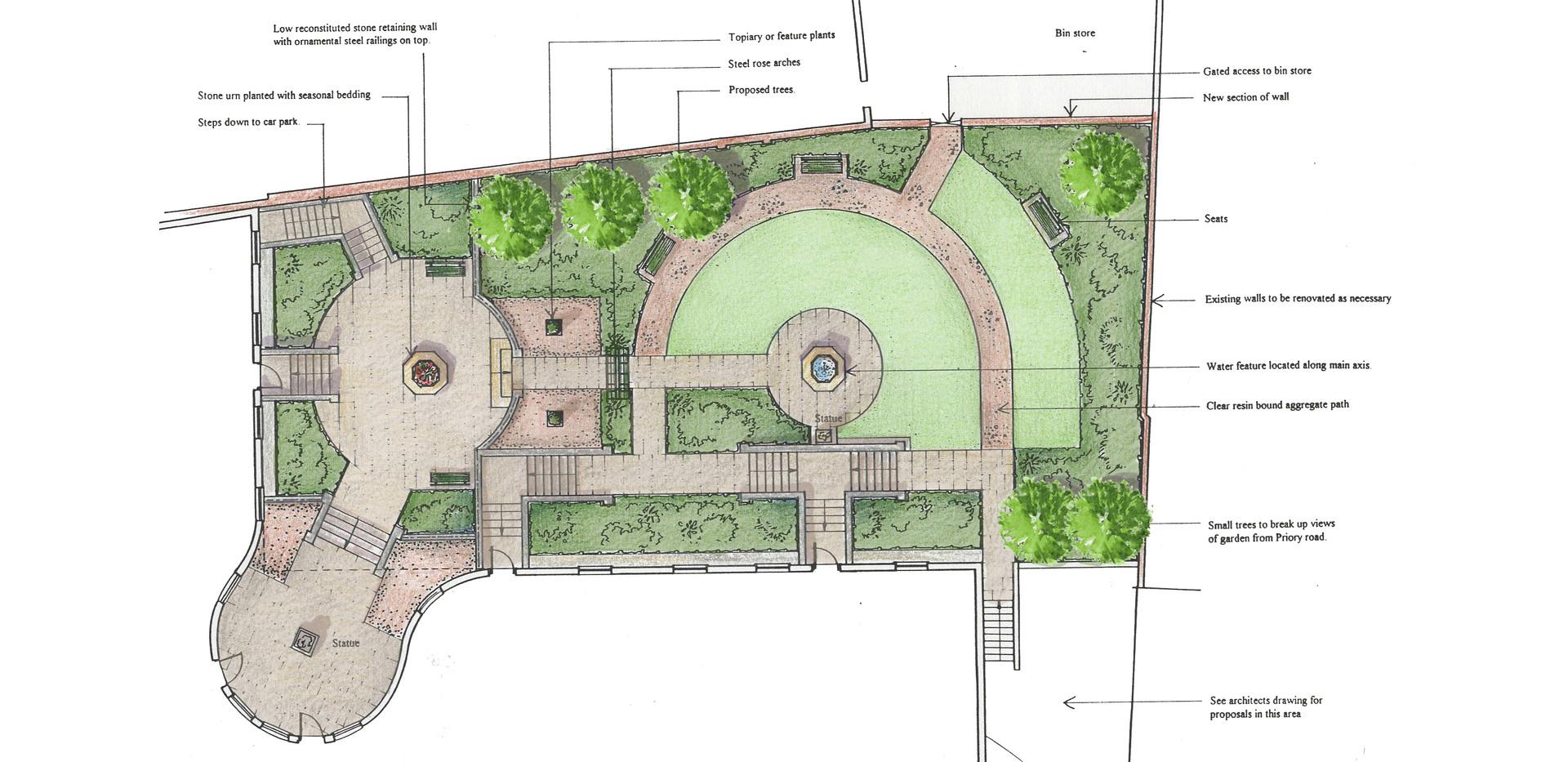 communal courtyard garden
