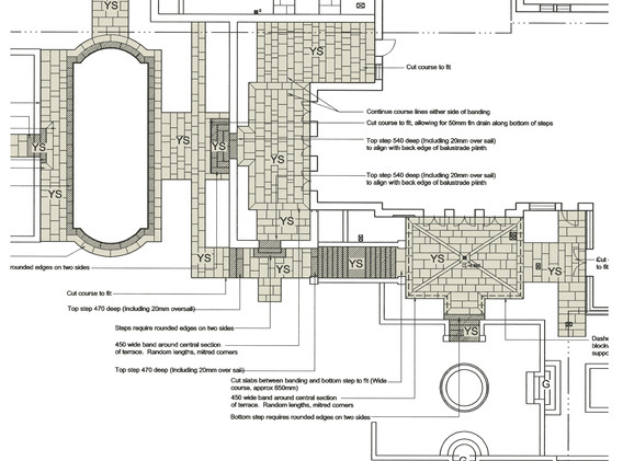 detailed paving layouts