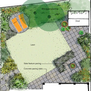A small suburban oasis on the diagonal