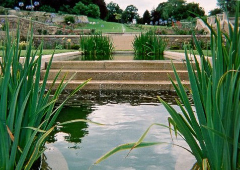 water feature with cascade
