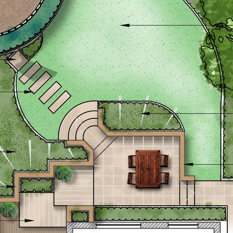 Wotton-under-Edge sloping garden