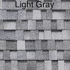 light grey dimensional roof shingle