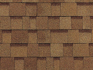 golden brown dimensional roof shingle