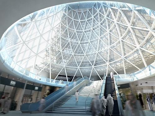 Commercial Interior Rendering (atrium)