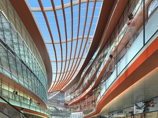 Contemporary Shopping Center Interior Rendering Daytime