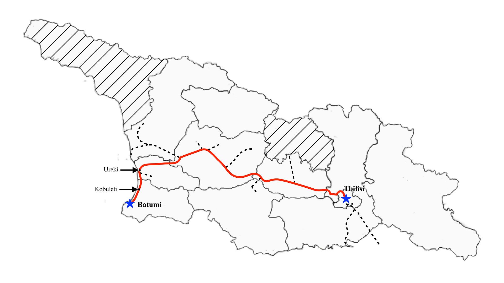 Tbilisi to Batumi (Fast)