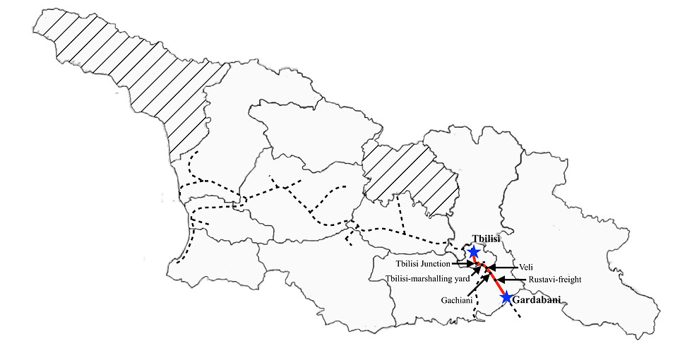 Gardabani to Tbilisi