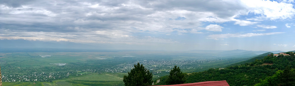 Panorama of the Alazani Valley from Sighnaghi