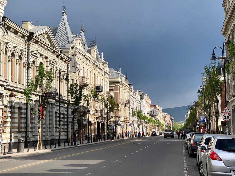 Aghmashenebeli Avenue, Tbilisi, Georgia