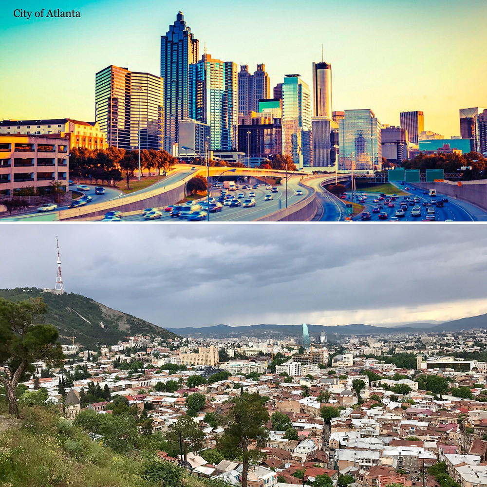 Atlanta, Georgia. Tbilisi, Georgia.