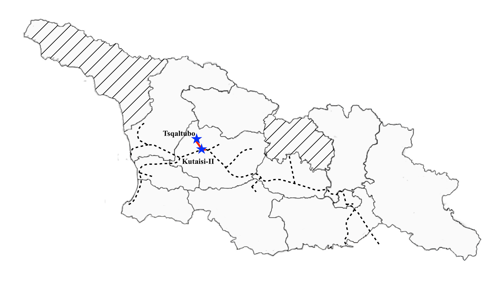 Kutaisi II to Tsqaltubo