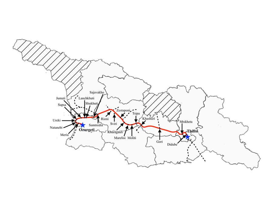 Ozurgeti to Tbilisi (Fast)