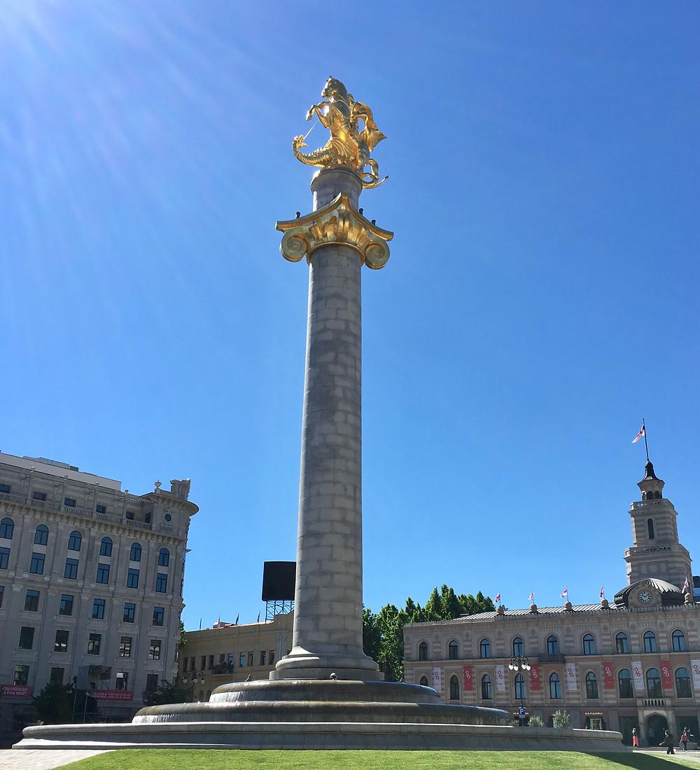 თავისუფლების მოედანი Liberty Square in Tbilisi
