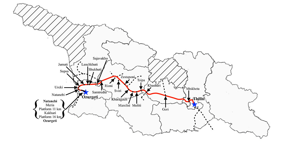 Tbilisi to Ozurgeti (Fast)