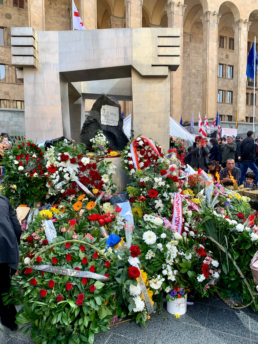 09 April Memorial in front of the Georgian Parliament building in Tbilisi.