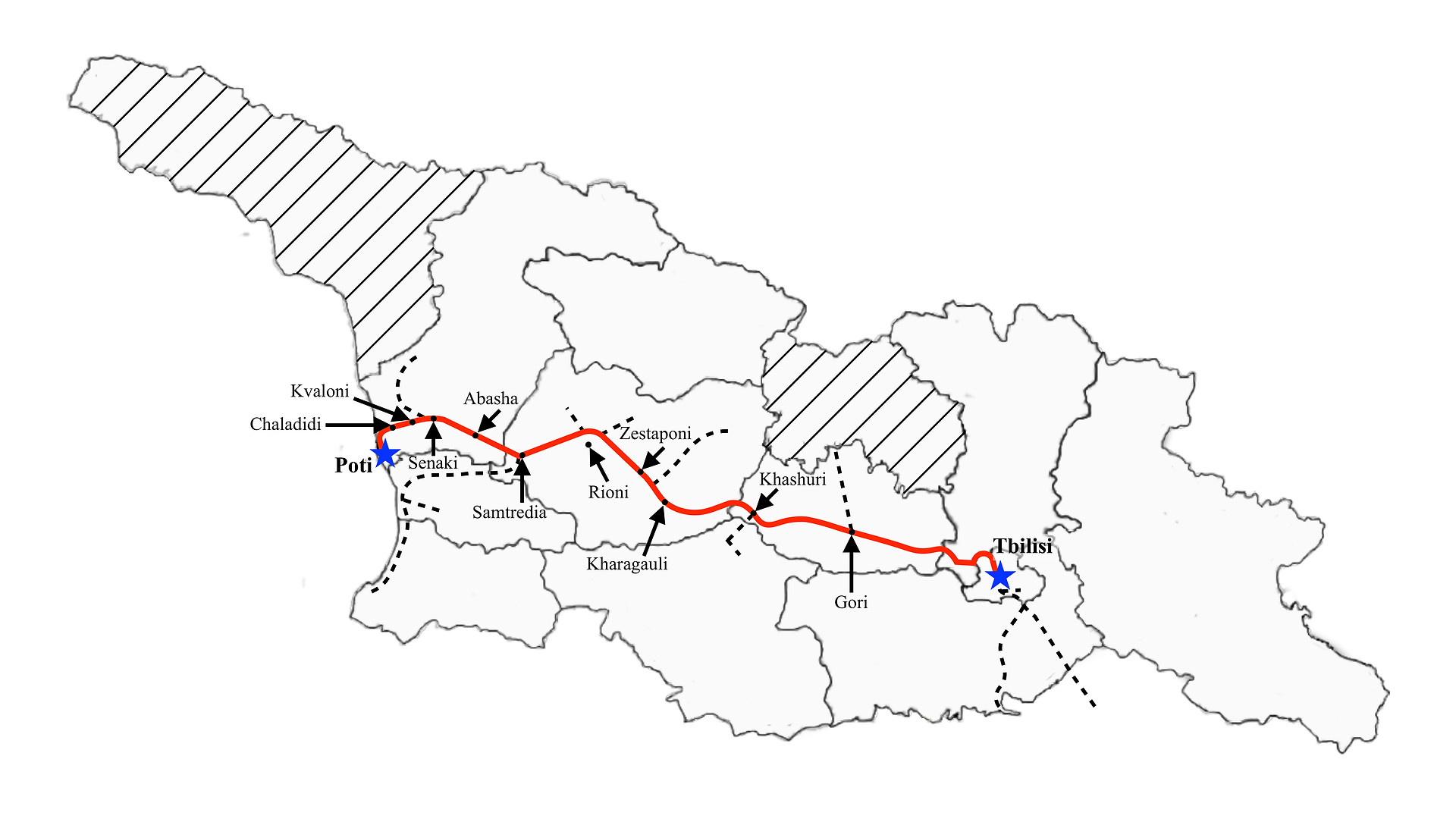 Poti to Tbilisi (Fast-nights)