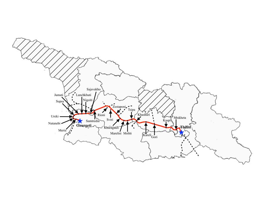 Tbilisi to Ozurgeti (Night)