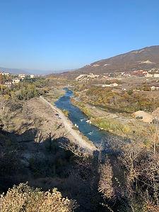 The Aragvi River, located north of Mtskheta.