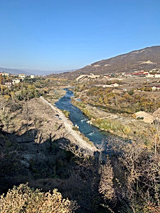 The Aragvi River, located north of Mtskheta.