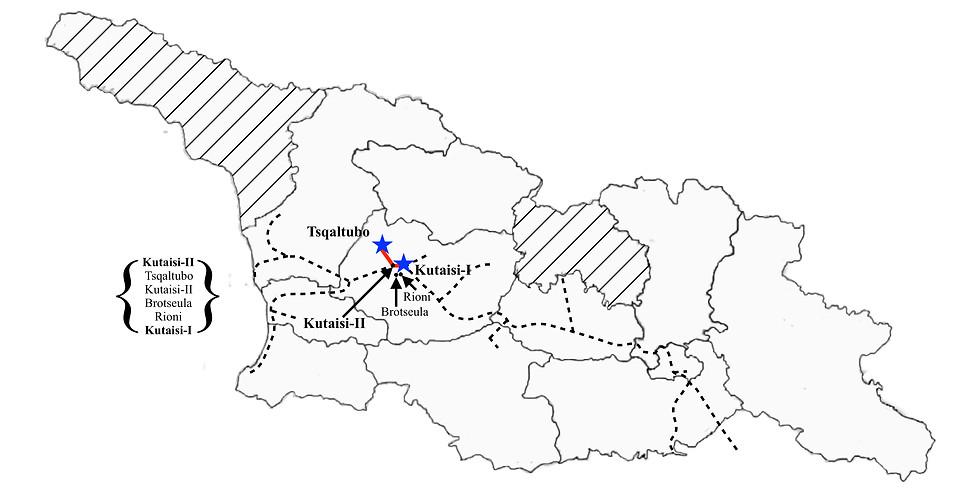 Kutaisi II to Tsqaltubo to Kutaisi I