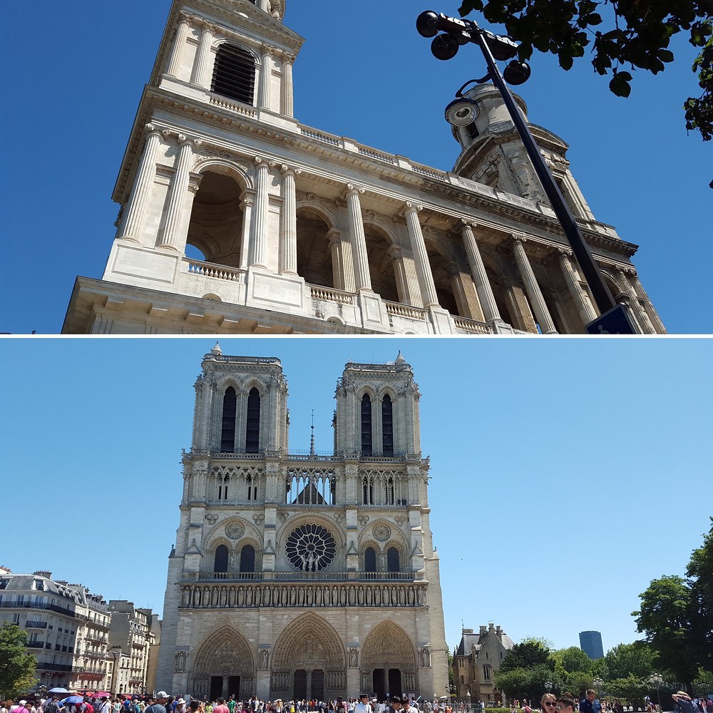 St Sulpice Basilica and Notre Dame de Paris
