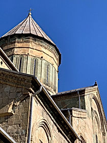 Close-up of Svetitskhoveli Cathedral in Mtshketa, Georgia