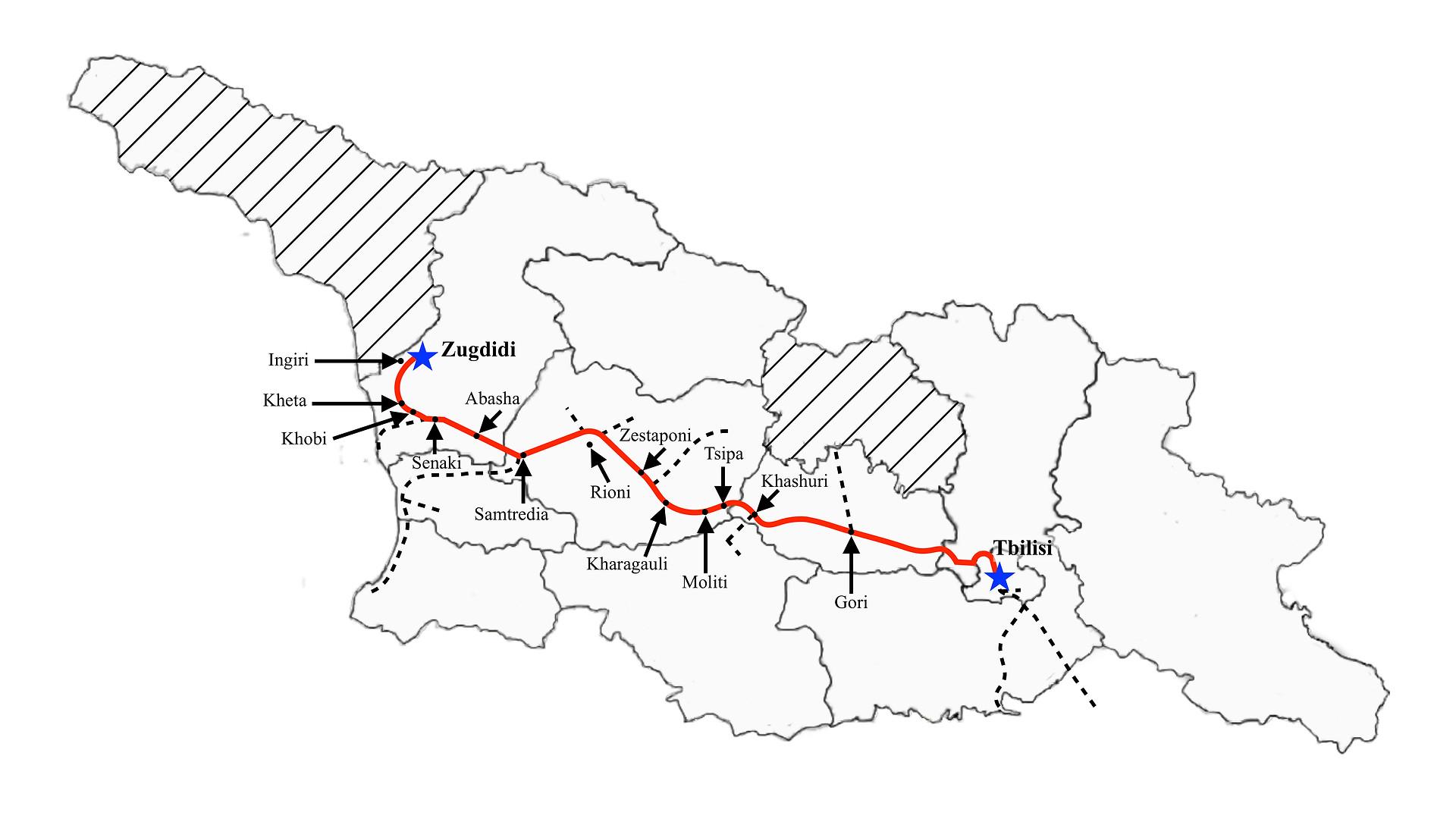 Tbilisi to Zugdidi (Fast)