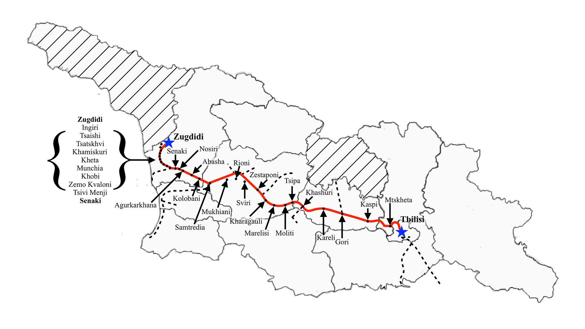 Tbilisi to Zugdidi (Night)