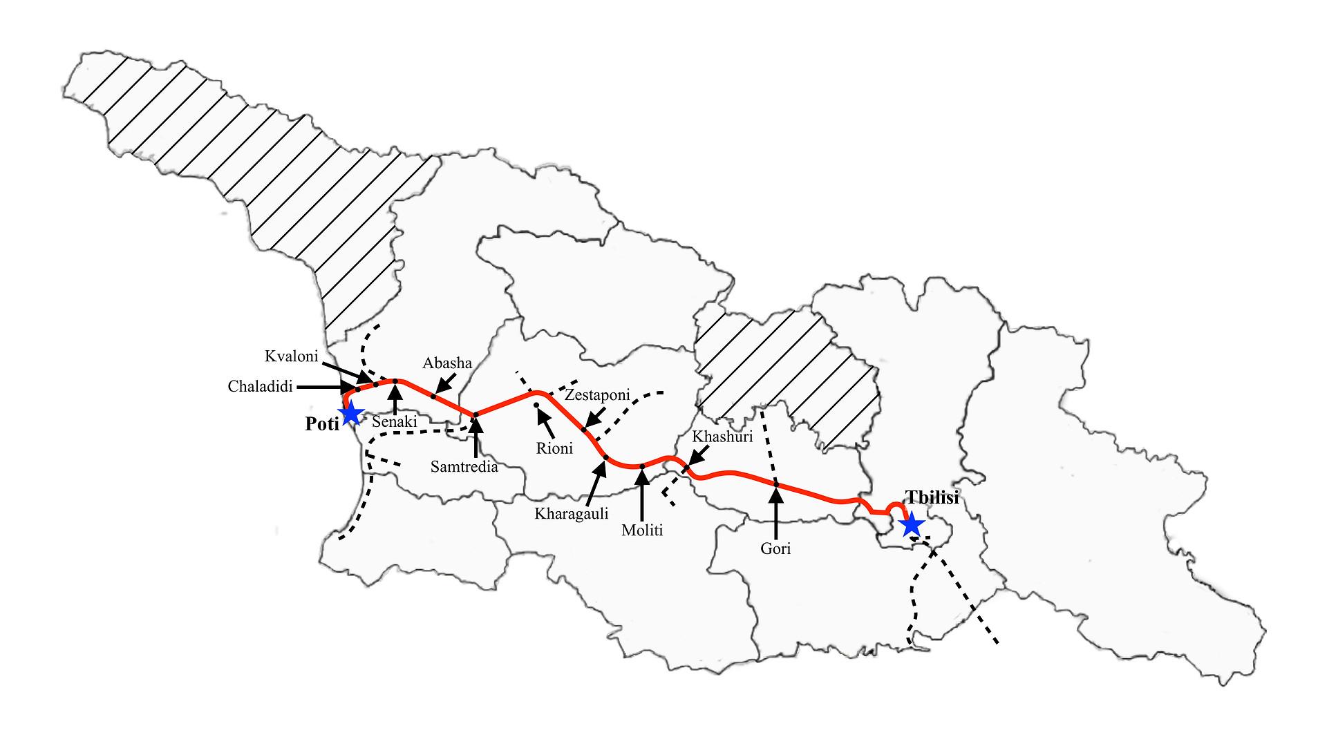 Poti to Tbilisi (Fast-days)