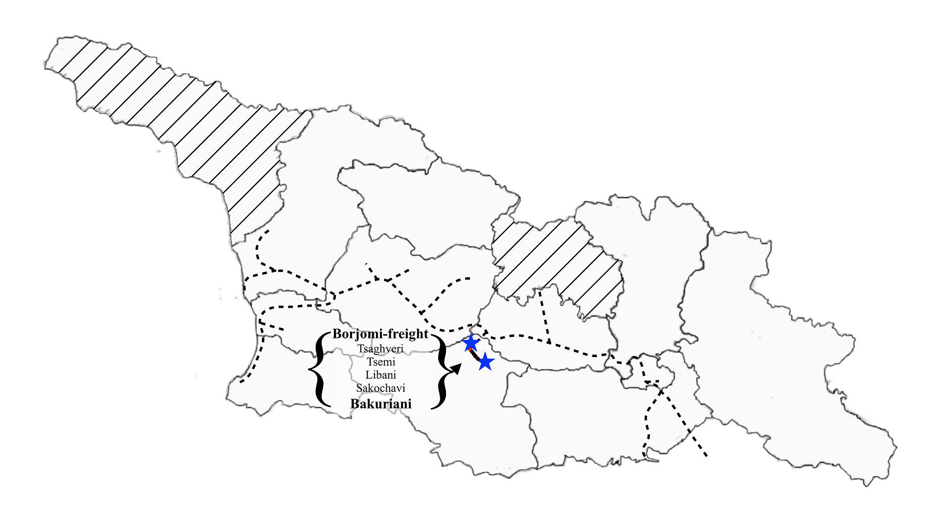 Bakuriani to Borjomi