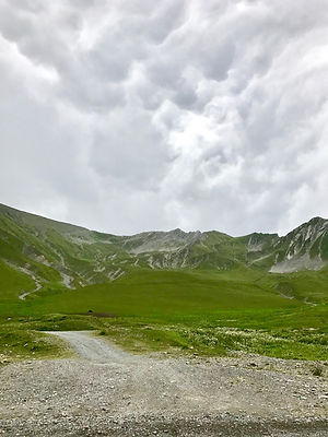 The Greater Caucasus Moutains in Kazbegi, Georgia.