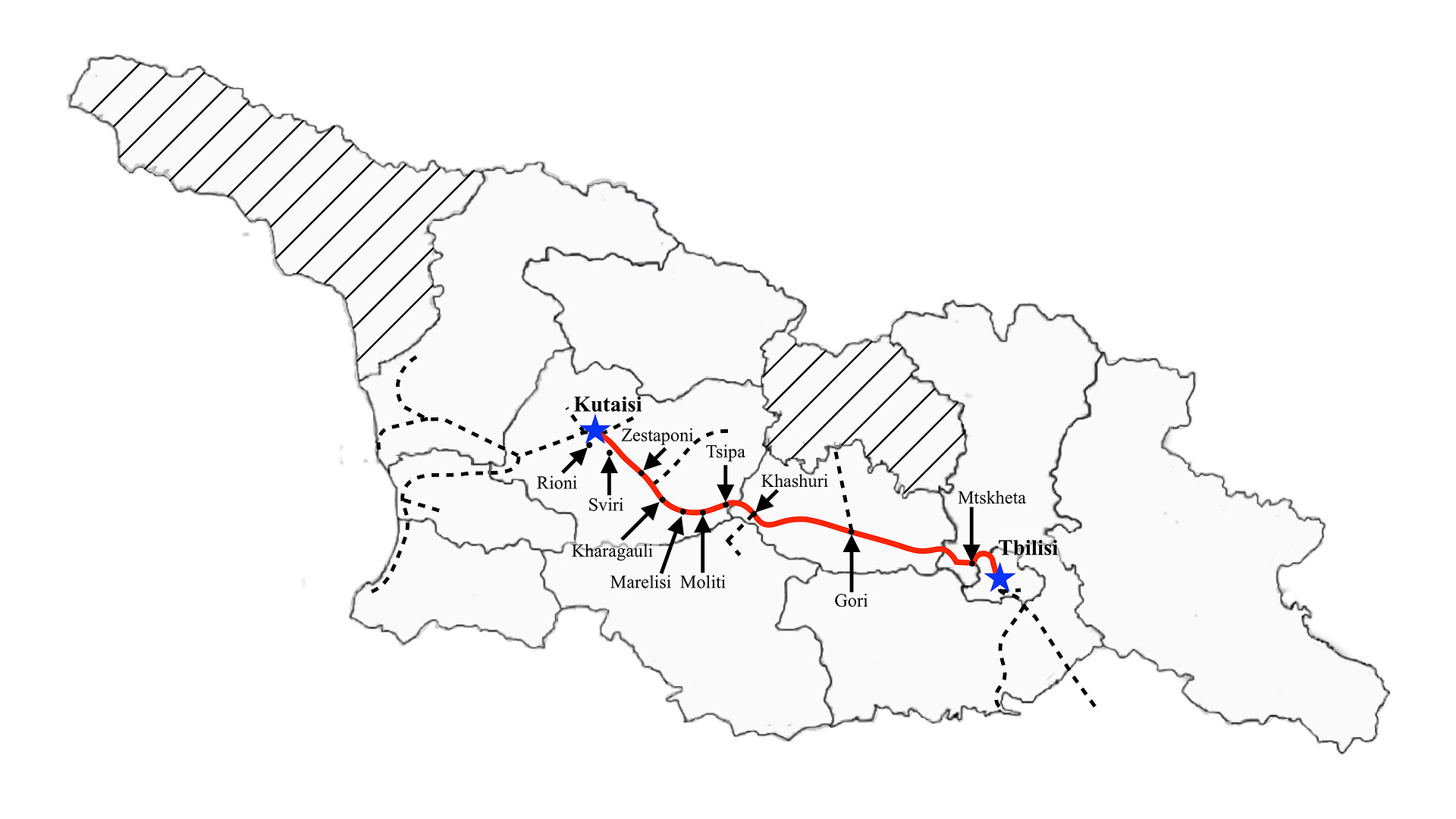 Tbilisi to Kutaisi I (Fast)