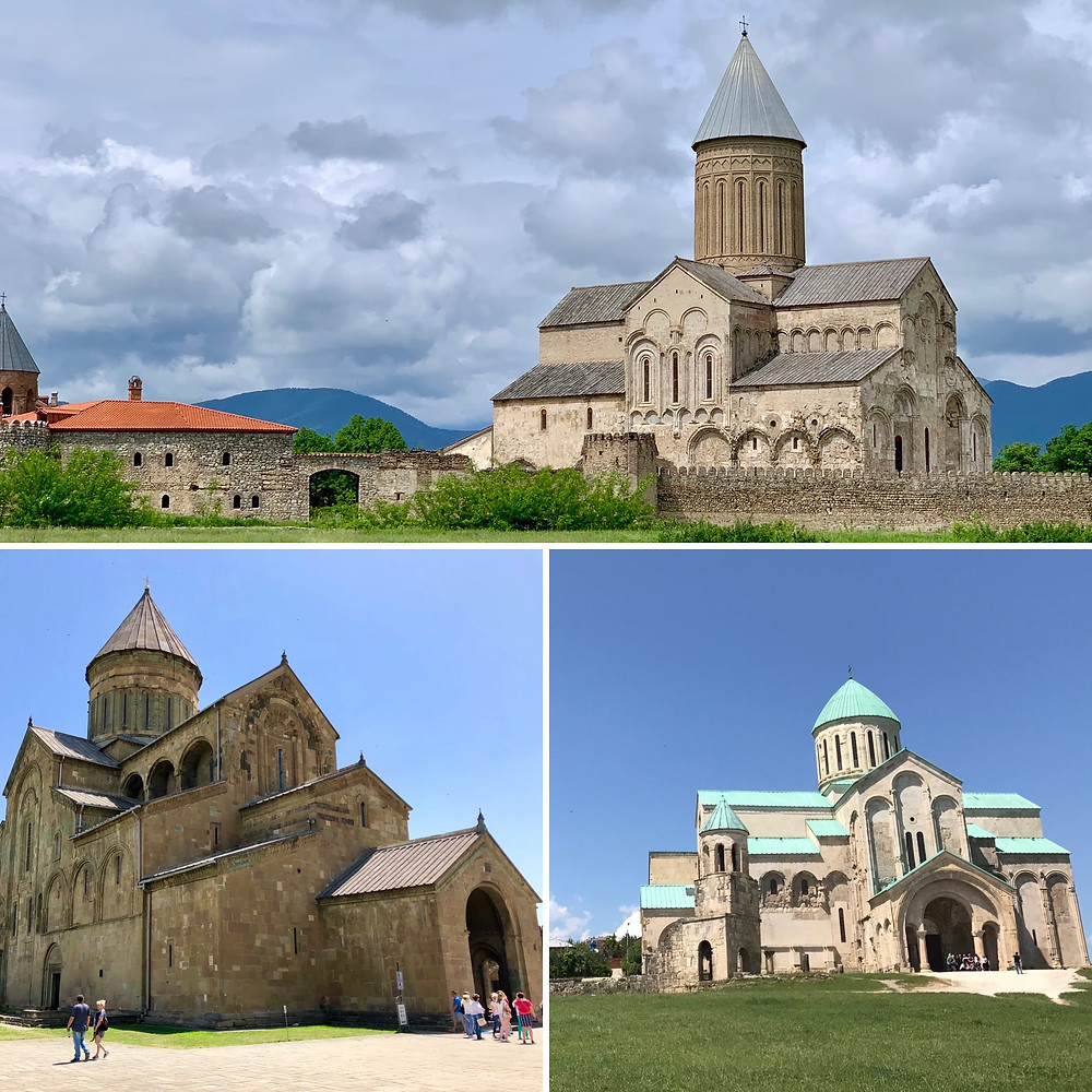 Alaverdi Monastery, Svetitskhoveli Cathedral, and Bagrati Cathedral are all examples of Georgian architecture.