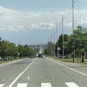 A typical Georgian road.