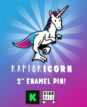 Raptoricorn Enamel Pin