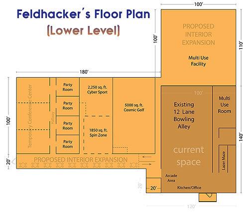Feldhacker Lower Level Plans