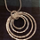 Thumbnail: 4 Hammered  circle  pendant